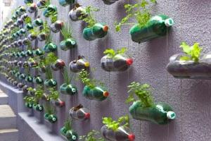 Upcycled plastic bottles on Brazilian house- Rosenbaum design firm. Pic via Colossol
